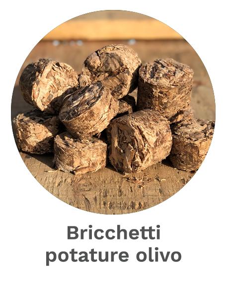 Bricchetti potature olivo